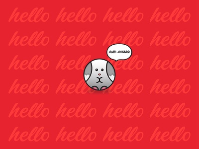 My First Shot hello rabbit beginner design debut illustration