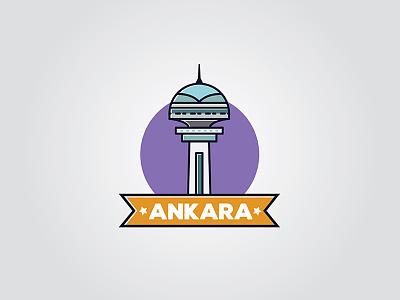 Ankara Landmark, Atakule tower capital city design illustration landmark atakule turkey ankara