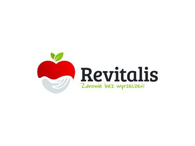 Revitalis | Zdrowie bez wyrzeczeń! nature illustration vector idea brand identity brand red care dietician diet healthy health hand apple logos logodesign logotype branding logo design logo