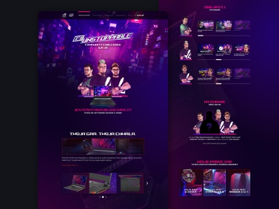 ASUS BeUnstoppable - JaRock twitch streamers gamers republic of gamers one page design jarock web design landing page landing technology game gaming asus rog asus rog strix scar iii asus rog strix scar iii beunstoppable asus beunstoppable asus