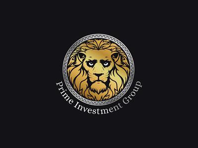 Prime Investment Group | Logo art branding vector gold logo investment logo investing invest group investment prime premium logo premium gold lion logo lions lion logotype logo design logo