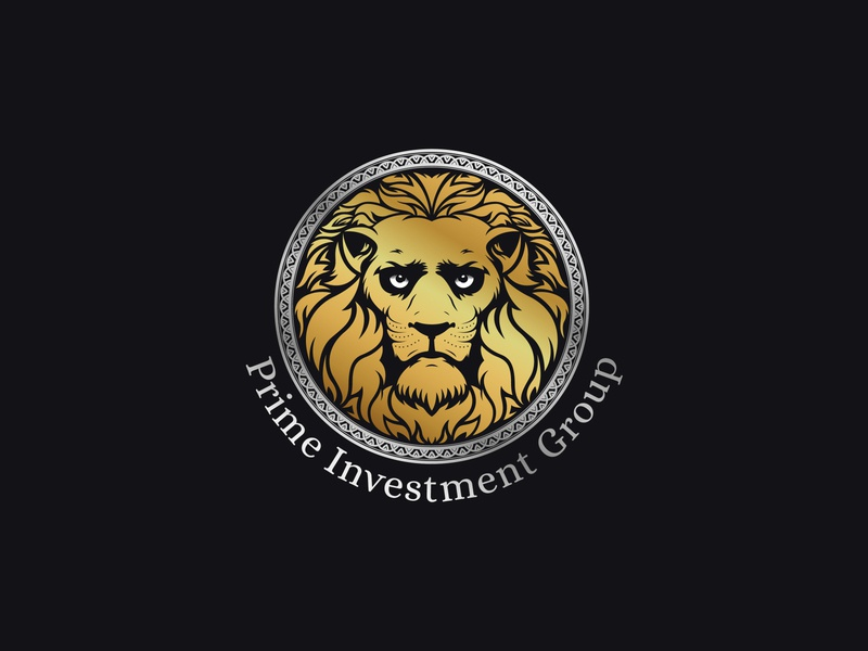 Prime Investment Group | Logo art branding vector gold logo investment logo investing invest group investment prime premium logo premium gold lion logo lions lion logotype logo design logo