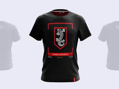 Związek Jaszczurczy 1942 - T-Shirt project mockup vector t-shirt illustration t-shirt art t-shirt tshirt red product lizard illustration history designer design clothes branding black art apparel design apparel