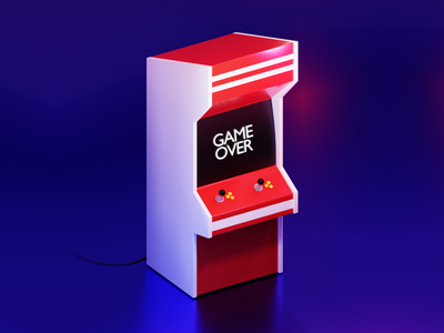 Arcade Game - 3D Model | Blender graphic art blender 3d 3d artist game over arcade games games arcade gane game blender arcade 3d art 3d design