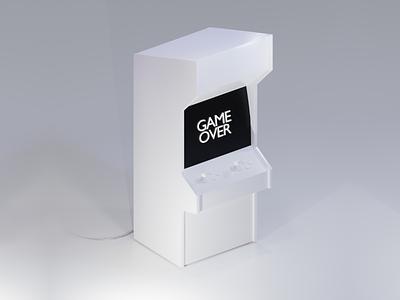 Arcade Game - Render 3D Model | Blender blendercycles render graphic games game over blender 3d blender arcade games arcade 3d artist 3d art 3d game art design