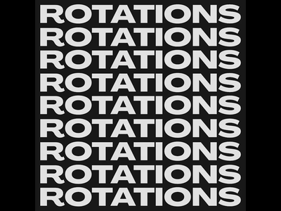 rotations type type ritations graphic design c4d typogaphy motion graphics motion design motion kinetic typography kinetic type kinetic