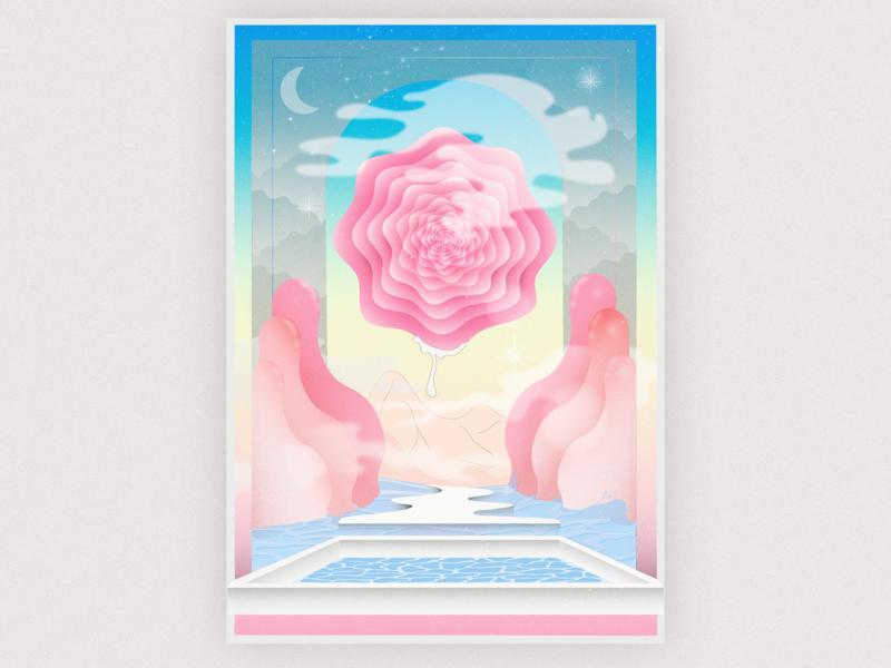 place poster vector illustraion colours artwork