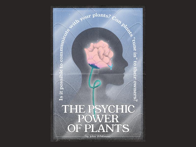 Psychic Plant graphics cover artwork graphic design gradient color gradient dreams design poster vector illustraion colours artwork
