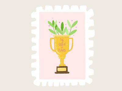 Day 8 prompt: Prize trophy prize stamp peachtober20 inkoctober20 digitalart art illustration