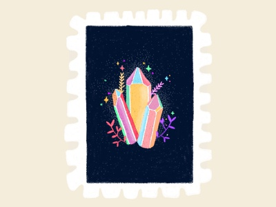 Day 23 prompt: Glow crystal gems gems crystal glow stamp peachtober20 inkoctober20 digitalart art illustration