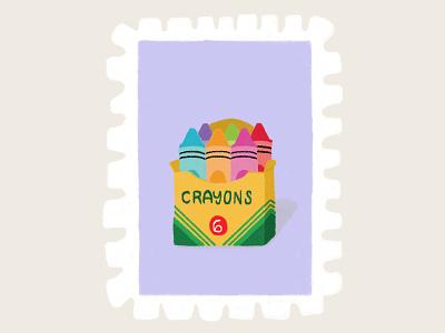 Day 24 prompt: Carton crayola carton crayons stamp peachtober20 inkoctober20 digitalart art illustration