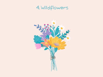 Wildflowers tulip bouquet flowers illustration flowers daisy wildflowers 100thingstodraw drawingchallenge digitalillustration art digitalart illustration