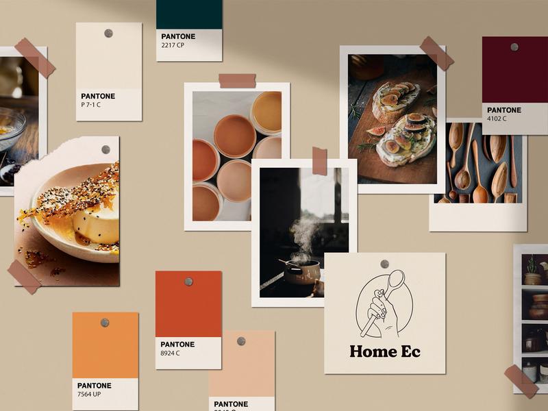 Home Ec Moodboard redesign branding minimal flat design