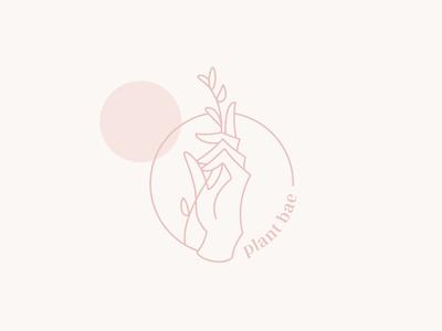Hand Monoline Logo