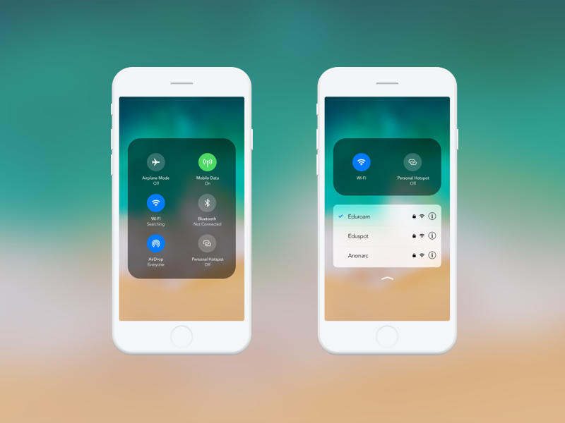 3D touch on wifi ? ios concept ui ux 3d touch apple wifi