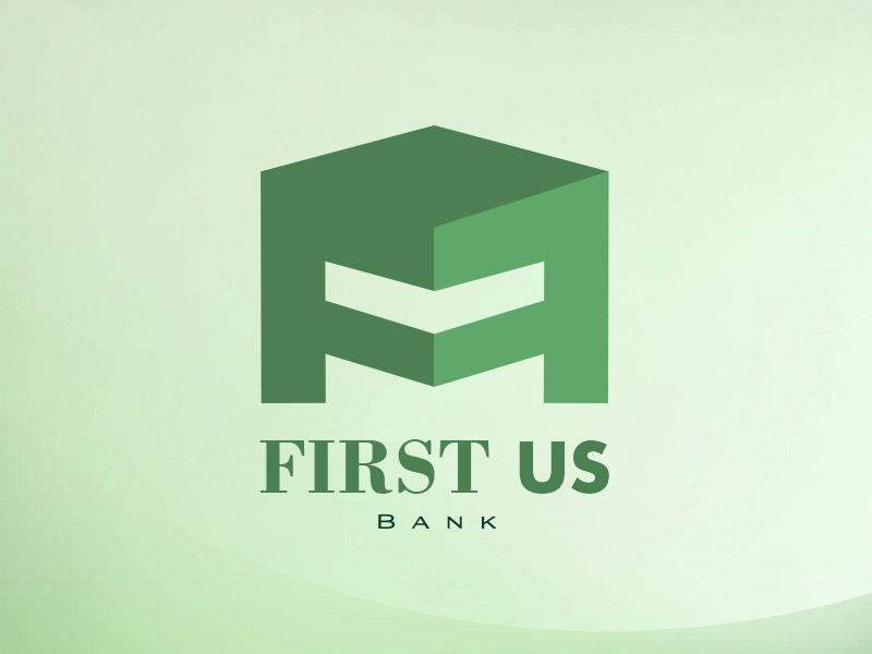 Bank Logo Rebranding bank logo green first f strong secure confident building letter f hidden flat