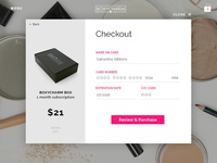 DailyUI Challenge: Credit Card Checkout