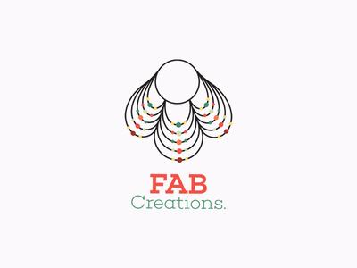 FAB Creations logo corporate identity identity branding design brand logodesign simple idea vector design colors branding brand identity business battik art logo lineart icon creations jewellery