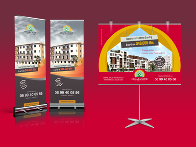 Banner Stand+ Rollup Menara Nour Immobilier
