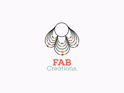 FAB Creations Logo art simple design business logodesign identity identity branding corporate identity brand branding design idea battik colors branding brand identity logo
