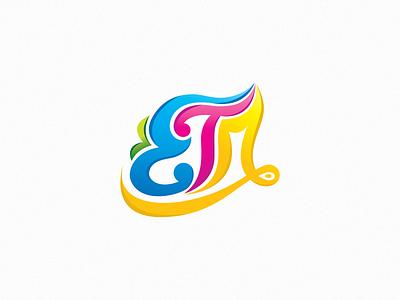 ETM Logo battik colorful logoconcept lettering typography brand identity art logodesign vector brand identity colors branding logo
