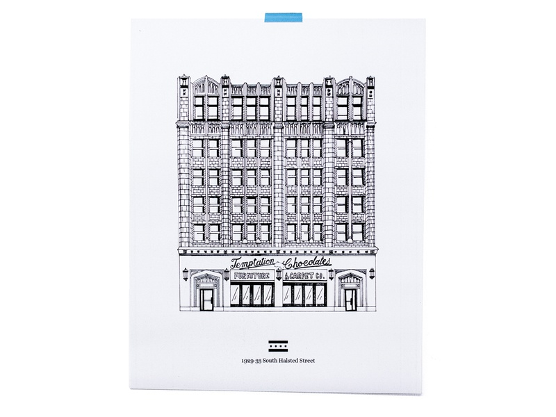 temptation chocolate print illustration architecture poster print