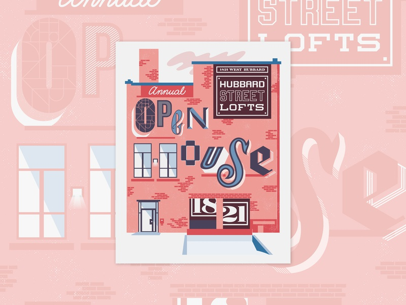 1821 Hubbard Open House chicago design illustration