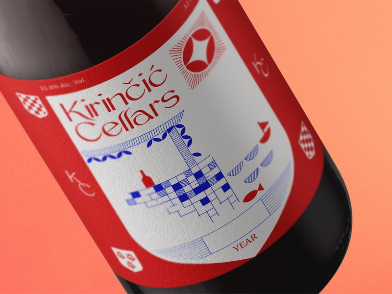 K. Cellars branding design illustration