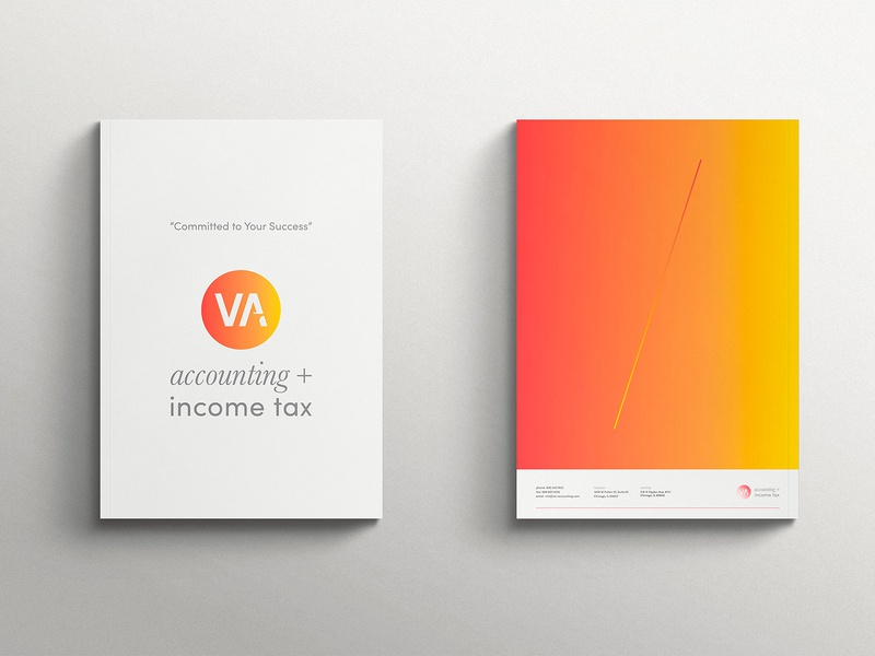 VA Accounting + Income Tax branding typography design logo type