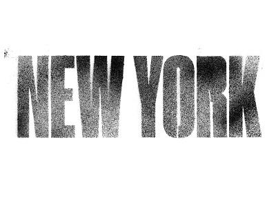 Type New York typography sketch type spraypaint spray