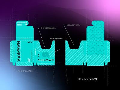 Respawn X 5 Gum packaging illustration gum