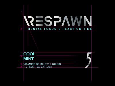 Respawn X 5 Gum graphics branding typography design type