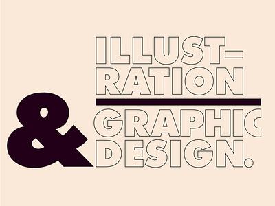 Illustration & Graphic Design vector typographic typography type