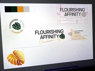 Flourishing Affinity design illustraion logo