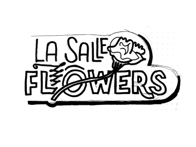 Flowers signage handlettering hand drawn lettering type flowers sign shop