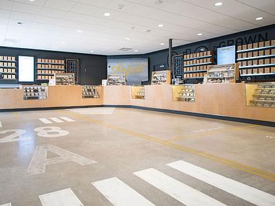 Airfield interior graphics menu vinyl floor graphic graphics interior design type