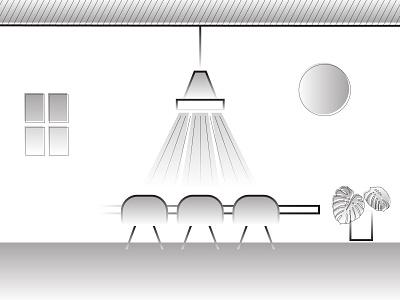 Interior - dinning room illustration