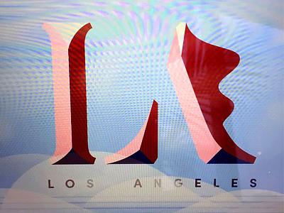 L.A. - lettering invitation la design lettering type illustration