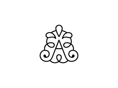 The Aromatherapist1s a letter a swirl drops