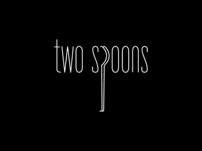 Two Spoons food typography spoon restaurant