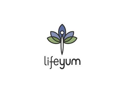 Lifeyum physical fitness yoga lotus flower dragonfly