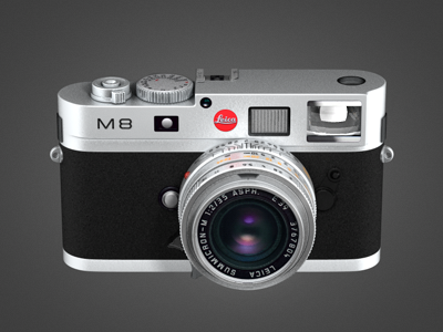 Leica M8 leica camera m8 3d rendering icon