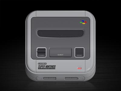 SNES Icon snes super nintendo iphone icon illustrator ios