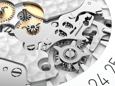 Nomos Neomatik mechanism ♥ cgi watches watch nomos design illustration cg 3d rendering