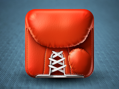 Boxing Glove iPhone Icon boxing glove iphone icon rendering simpletouch ios