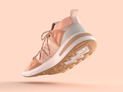 Adidas Arkyn arkyn 3d branding illustration modeling practice colorful rendering sneaker adidas