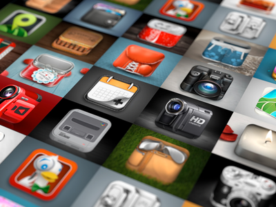 iOS icons - Behance Project ios icons rendering 3d behance