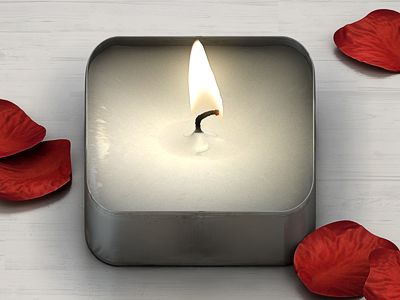 Tea Light iPhone Icon tea light candle iphone icon rendering ios
