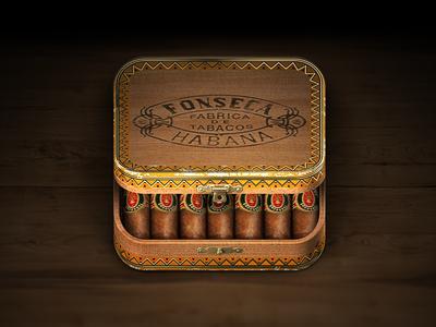 Cigar Box iOS Icon iphone ipad icon ios cigar box