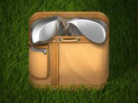 Golfbag grass dribbble